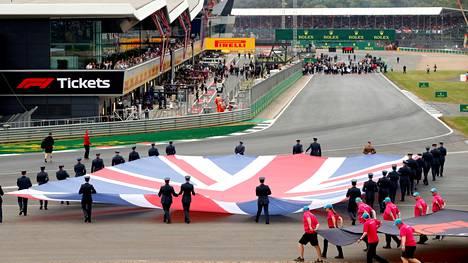 Britannian GP:n alkuseremoniassa viime vuoden heinäkuussa.