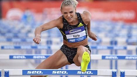 Pika-aituri Annimari Korte nimettiin olympiajoukkueeseen. Kuvassa Korte Paavo Nurmi Gameseissa tiistaina.