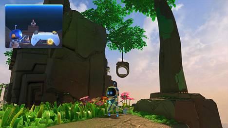 Astro's Playroom on teknologiademo ja tasohyppely. Graafisesti se ei ole mitään, mitä PS4:llä ei olisi voinut toteuttaa.
