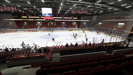 HIFK ja Ässät kohtasivat yhä ilman yleisöä SM-liigan ottelussa Helsingissä 14. tammikuuta.