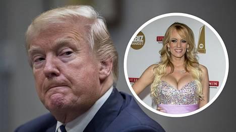 Donald Trumpin kerrotaan kohdanneen Stormy Daniels -nimellä tunnetun pornotähden golfturnauksessa vuonna 2006.