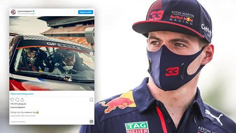 Max Verstappen ja Kelly Piquet olivat vauhdissa Barcelonan liepeillä.