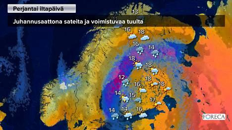 Juhannussää: Nyt tulee vettä, myös myrskyvaroitus annettu – sähköt poikki tuhansilta kotitalouksilta