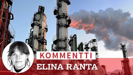 Nesteen Porvoon jalostamo osoittautui Energiaviraston vertailussa yhdeksi Suomen suurimmista hiilidioksidipäästöjen lähteistä.