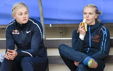 Wilma Murto (vas.) ja Minna Nikkanen