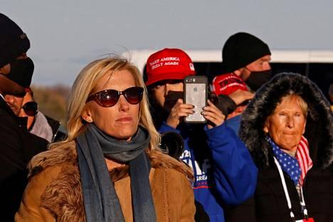 Fox Newsin juontaja Laura Ingraham on ollut yksi Trumpin pitkäaikaisimpia tukijoita. Hän osallistui presidentin vaalitilaisuuteen lokakuun lopussa Wisconsinissa.