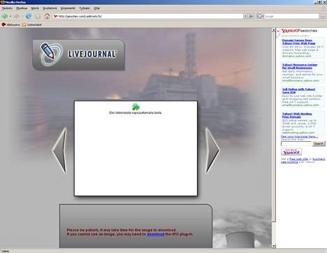 Geocities-verkkopalvelussa sijaitseva huijaussivusto haluaa asentaa koneelle troijalaisen.