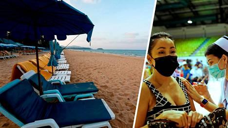 Thaimaa toivoo turistien ryntäävän maahan heinäkuussa, kun Phuketin saarella luovutaan karanteenivaatimuksesta koronavirusta vastaan rokotettujen ulkomaalaisten kohdalla.