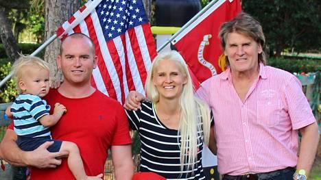 Frederik vietti joulun tyttärensä luona Floridassa.