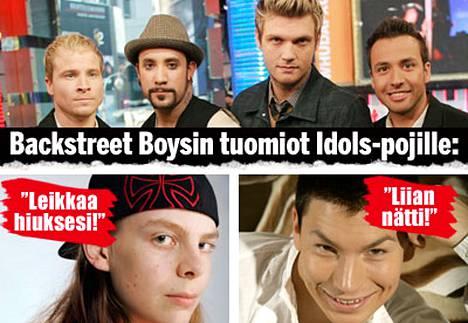 Näin Backstreet Boys luonnehtii Suomen Idols-tähtiä Aria ja Anttia.