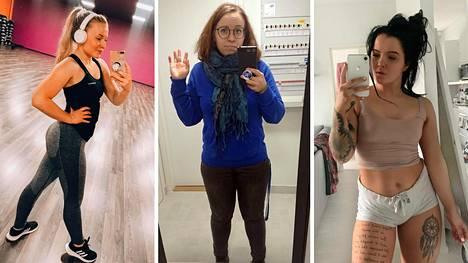 Kaikki nämä naiset ovat painoindeksin (BMI) mukaan ylipainon puolella.