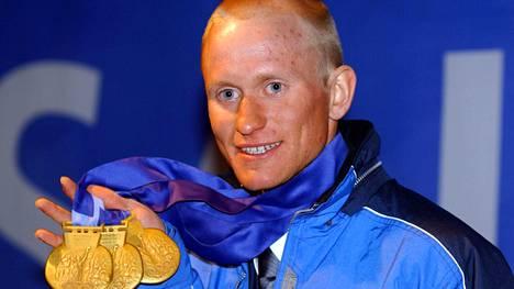 Samppa Lajunen voitti Salt Lake Cityssä kolme olympiakultaa 2002. Aktiiviuran jälkeen menestystä on tullut sijoituspuolelta.