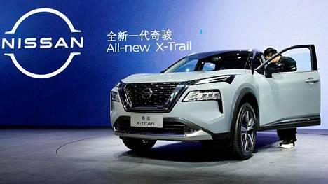 Shanghain autonäyttelyyn saapuneet tiedotusvälineet pääsivät tutustumaan uuteen X-Trailiin maanantaina.