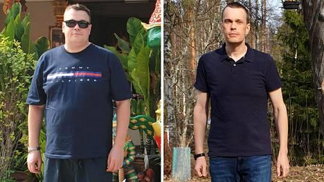 """Arttu-Henrik Koivusipilän paino putosi 136 kilosta 86:een kiloon. """"Tärkein neuvo on hyvä aamupala. Kun syö aamulla hyvin, on helpompi hillitä mielitekoja päivän mittaan."""""""