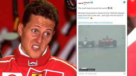 Michael Schumacher kävi kuumana Belgiassa kesällä 1998.