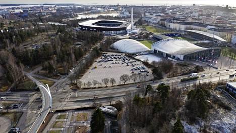 Tälle alueelle Helsingissä Garden-hanke sijoittuu.
