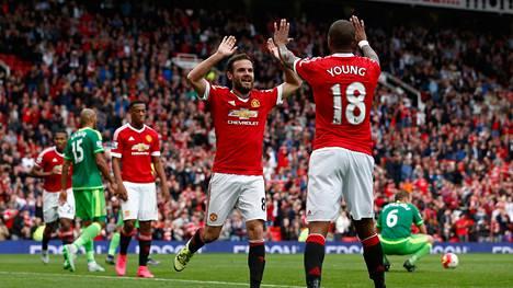 Kuva 26.9. pelatusta Valioliigan ottelusta Manchester United–Sunderland.