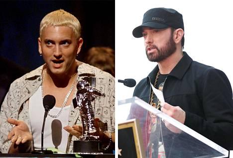 Blondattu Eminem palkittiin parhaana tulokkaana vuoden 1999 MTV Video Awardseissa. Tammikuussa 2020 Eminem kuvattiin tummapartaisena.