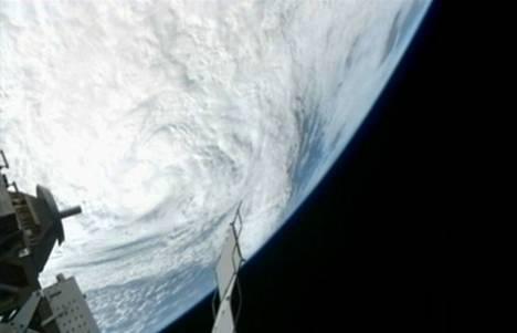 Sandy näyttää tältä kuvattuna kansainväliseltä avaruusasemalta.