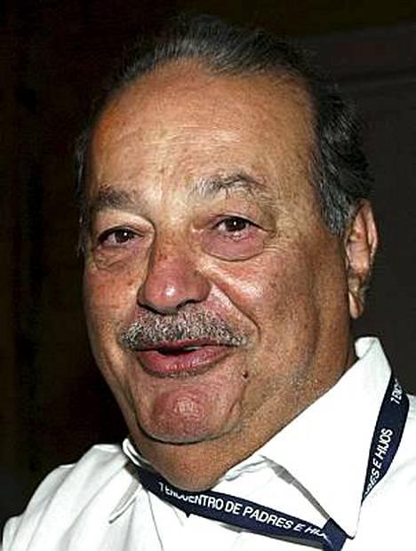 Meksikolainen telemoguli Carlos Slim on maailman kolmanneksi rikkain.