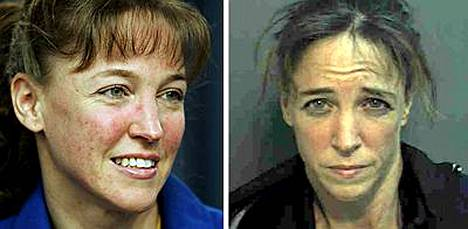 Lisa Nowak tuomittiin kahdeksi päiväksi vankeuteen, vuodeksi ehdonalaiseen ja 50 tunniksi yhteiskuntapalveluun.