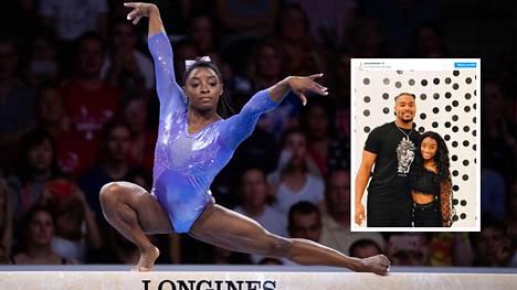 Simone Biles on saavuttanut telinevoimistelussa 30 arvokisamitalia. Hän kertoi elokuussa seurustelevansa Jonathan Owensin kanssa.