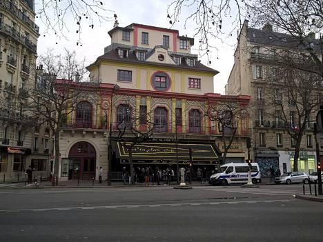 Bataclan-teatteri toimi marraskuussa näyttämönä veriselle terroristi-iskulle. Pariisin iskujen tappamista 130 ihmisestä peräti 89 menetti henkensä täällä.