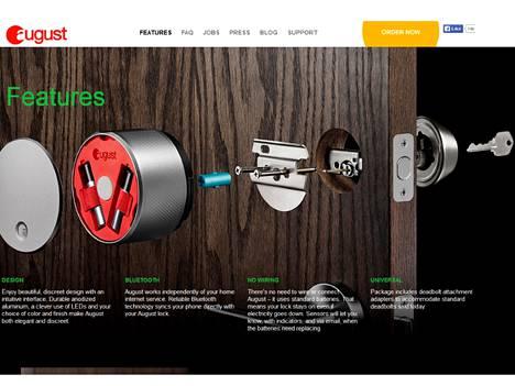 August Smart Lock asennetaan osaksi tavallista sylinterilukkoa.