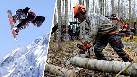 Lumilautailussa kolme maailmanmestaruutta voittaneen Roope Tonterin käsi ei enää purista lumilaudan reunaa, vaan moottorisahan kahvaa.