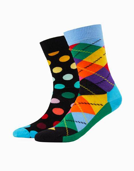 Happy Socks 2-pack -sukat 19,95 €.
