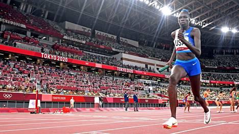 Athing Mu kuului Yhdysvaltain voittoisaan 4x400 metrin viestijoukkueeseen Tokion olympialaisissa.