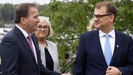 Ruotsin pääministeri Stefan Löfven ja pääministeri Juha Sipilä tapasivat tänään Maarianhaminassa.