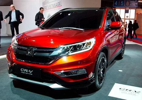 Honda-mallisto on päivittymässä uudella CR-V:llä. Pariisissa nähtiin myös uuden HR-V:n ja Jazzin prototyyppiversiot.