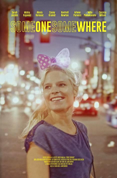 Someone Somewhere -elokuvan juliste, jossa poseeraa Milla Puolakanaho.