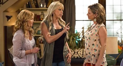 1990-luvun hittisarjan Full Housen tytöt ovat aikuistuneet: Candace Cameron Bure, Jodie Sweetin ja Andrea Barber.