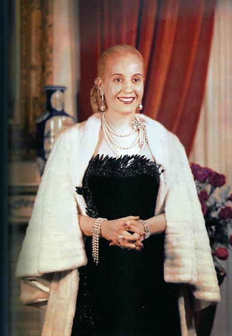 Eva Peron oli presidentin puoliso vuodesta 1946 kuolemaansa asti, vuoteen 1952.