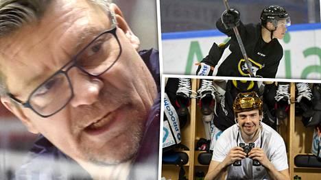 Kärppien ykkössentteri Juho Lammikko (oik. alhaalla) kiikaroi takaisin NHL:ään. Jukka Jalosen (vas.) mielestä hänellä on siihen mahdollisuus, toisin kuin Jesse Puljujärvellä tällä hetkellä.
