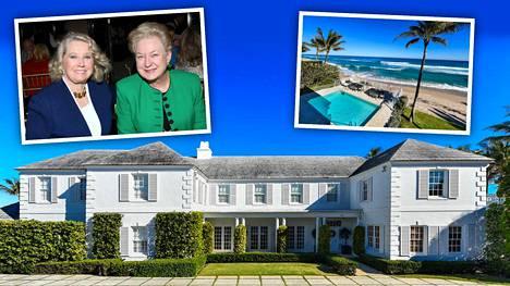 Talon ostaja saa naapurikseen myös Donald Trumpin siskon Elizabeth Trump Grau ( pieni kuva vas.). Toinen sisko Maryanne Trump Barry (oik.) omisti rantatalon 14 vuoden ajan.