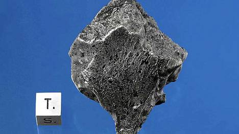 Tältä näyttää Marsista Marokkoon päätynyt meteoriitti.