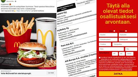 Singaporelaisyritys kerää suomalaisten tietoja muiden tuotemerkkejä käyttävillä Facebook-mainoksilla ja sanoo olevansa nimekkäiden suomalaisten tai Suomessa toimivien yhtiöiden yhteistyökumppani.