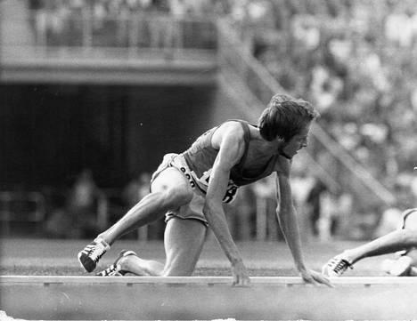 Tämä kuva ei unohdu. Virén kaatui Münchenin kympillä. Maalissa hän oli silti ensimmäisenä.