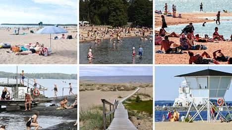 10 ehkä tunnetuinta uimarantaa, mikä on oma suosikkisi?