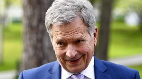 Tasavallan presidentti Sauli Niinistö Helsingissä 24. toukokuuta 2020.