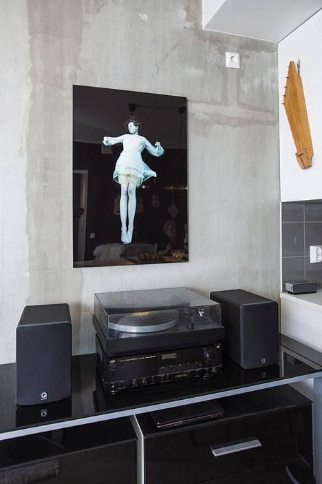 Muusikkojen kodissa myös levysoittimella on itseoikeutettu paikkansa.