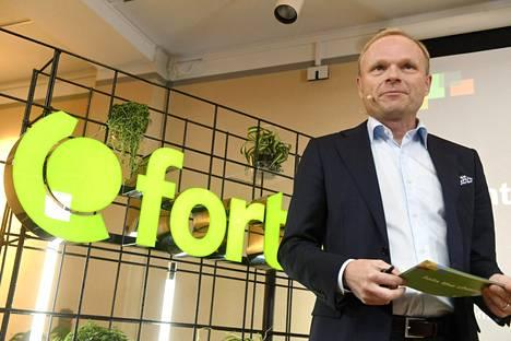 Fortumin toimitusjohtaja Pekka Lundmark esitteli uuden Valo Ventures -kasvurahaston tänään lehdistötilaisuudessa Helsingissä.