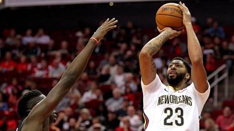 Pelicans nuiji Houstonin NBA-kauden avauksessaan