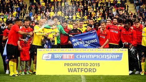 Watford jäi Championshipin kakkoseksi, mutta se ei nousujuhlia latistanut.