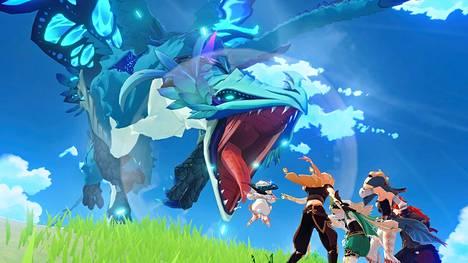 Genshin Impact sisältää fantasiaseikkailuille tyypillisiä eeppisiä taisteluja.