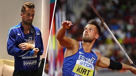 Viron Magnus Kirt loukkaantui dramaattisesti keihäänheiton finaalissa sunnuntaina. Hän ehti kuitenkin heittää MM-hopeaan oikeuttavan heiton.