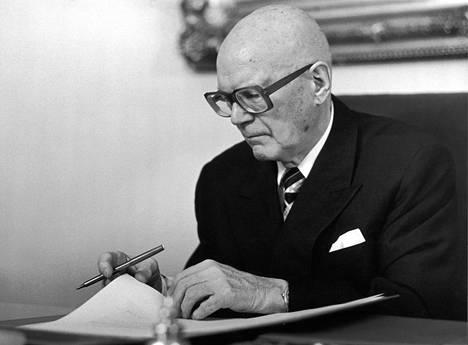 Presidentti Urho Kekkonen oli joulukuussa 1979 jo 79-vuotias.